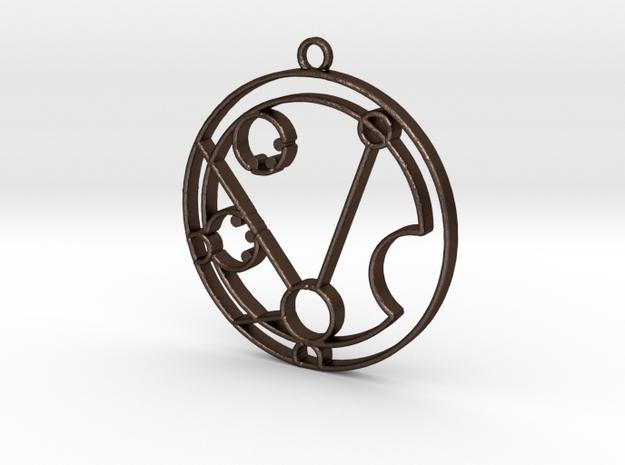 Matilda - Necklace in Matte Bronze Steel