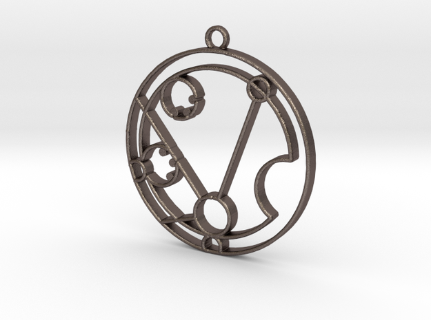 Matilda - Necklace in Polished Bronzed Silver Steel
