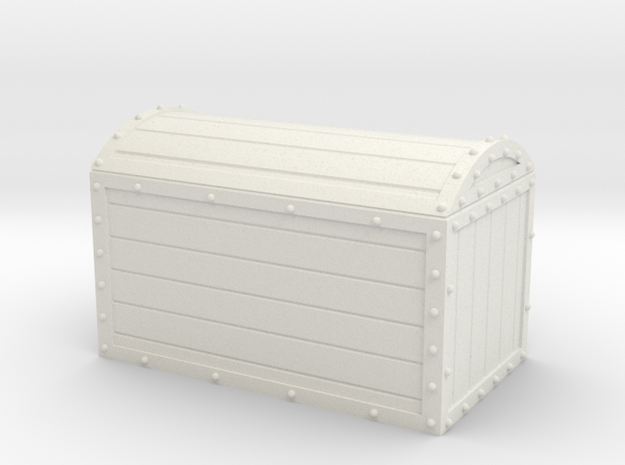 1/56th (28 mm) scale wooden chest with metal frame