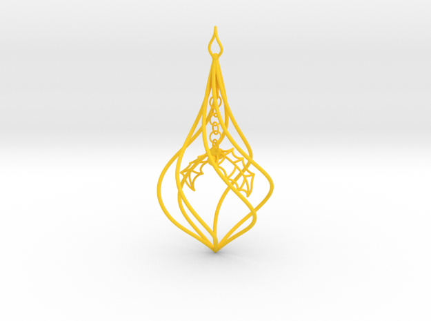 Christmas Tree Ornament (Bauble) - Holly 3d printed Christmas Tree Ornament
