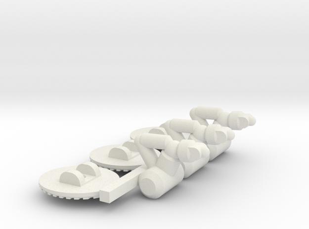 Chariot Dropship Landing Gear - 3mm in White Natural Versatile Plastic