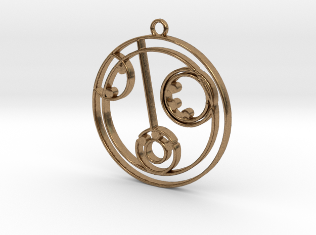 Lilly - Necklace in Raw Brass