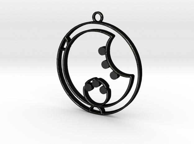 Lara - Necklace in Matte Black Steel