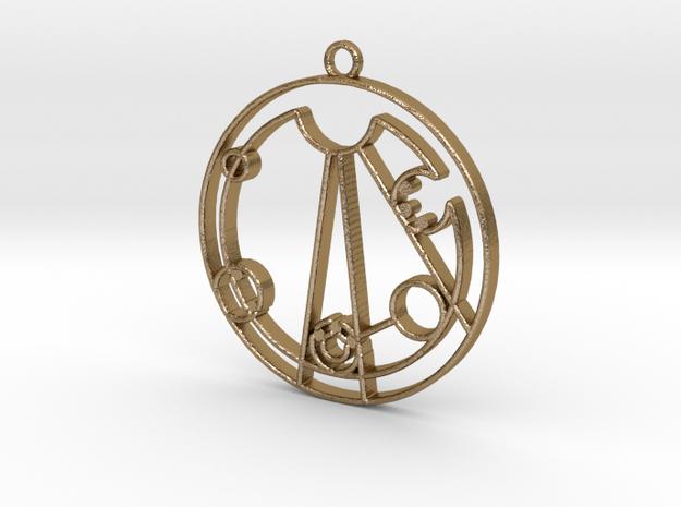 Lindsey - Necklace in Polished Gold Steel