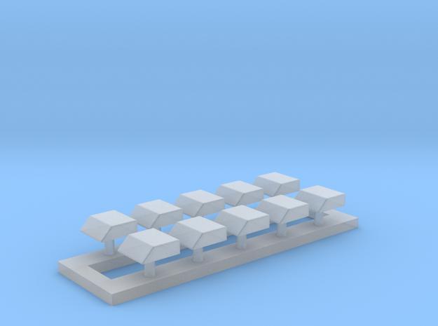 Ziegler Integro Blaulichtecke - Set of 10 in Smooth Fine Detail Plastic