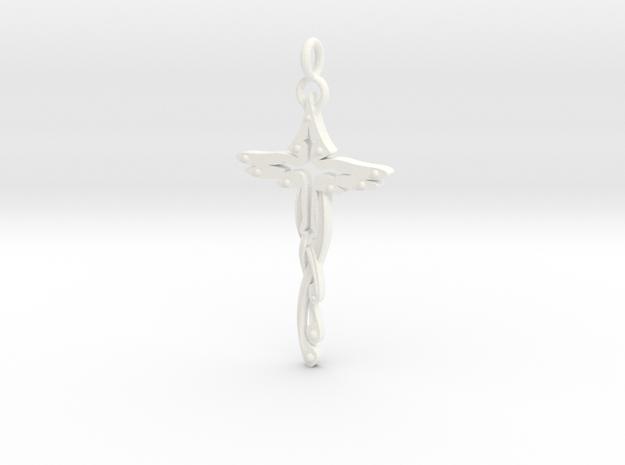 Birdshaped cross (turned ring) 3d printed