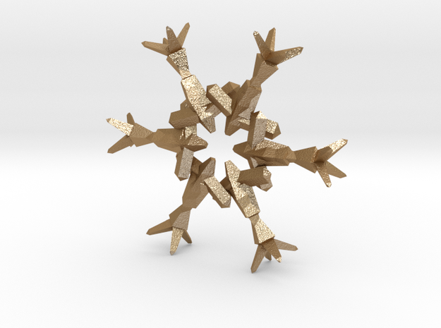 Snow Flake 6 Points B - 4.6cm 3d printed