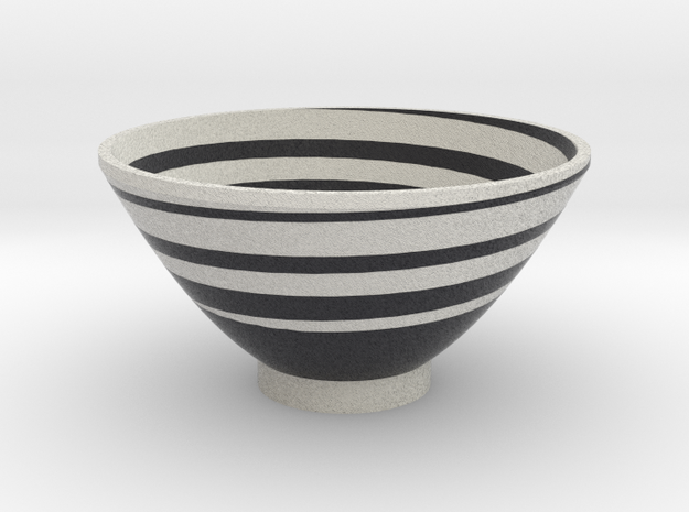 DRAW bowl - segmented I in Full Color Sandstone