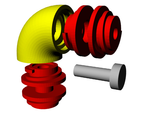 Amorphature 3d printed Universal rotating joint