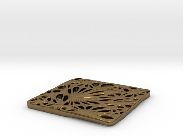 Boxed Floral - Pendant Necklace 3d printed