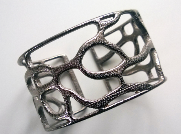 Underground Bracelet in Polished Nickel Steel