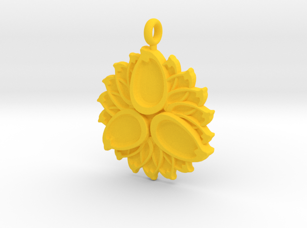 3 Petals with or without Initials - 2.5cm 3d printed