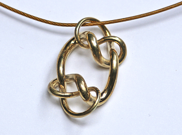 Knot C in Polished Brass