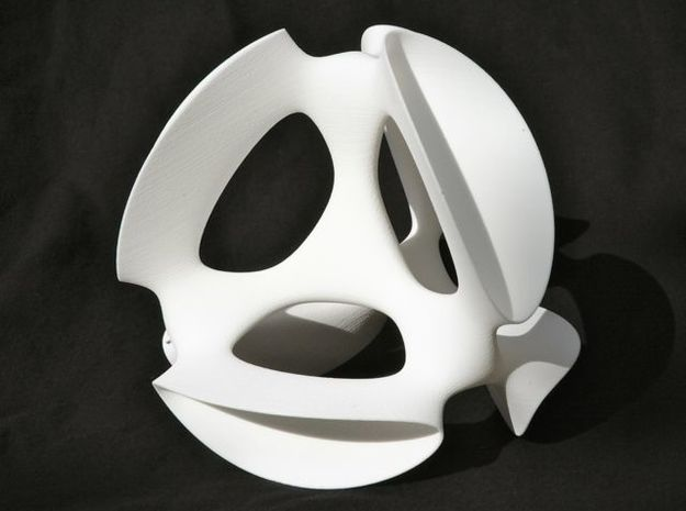 A smoothed Kummer Surface, 19.2cm (7.6in) in White Natural Versatile Plastic