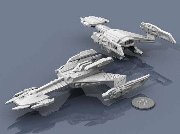 Ngaksu Stormfront 3d printed Renders of the model, with a virtual quarter for scale.