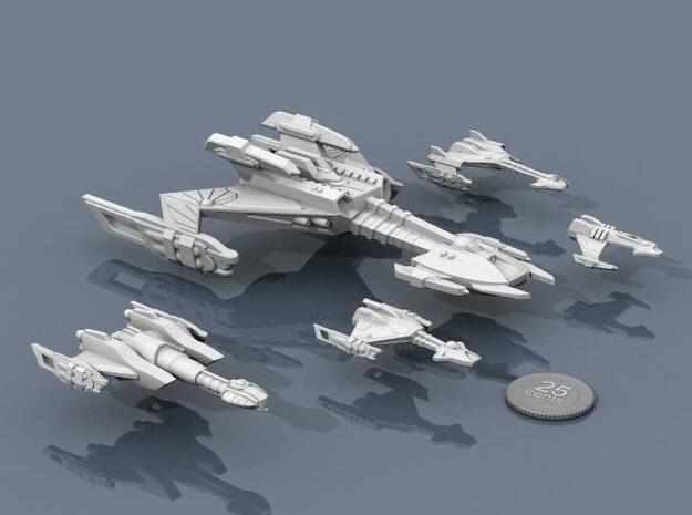 Ngaksu Stormfront 3d printed Stormfront, with escort ships.