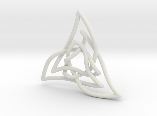 Triquetra 3 in White Natural Versatile Plastic