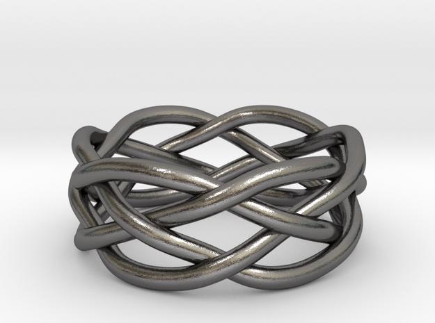 Dreamweaver Ring (Size 9) in Polished Nickel Steel
