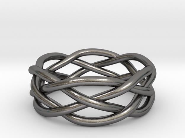 Dreamweaver Ring (Size 10.5) in Polished Nickel Steel