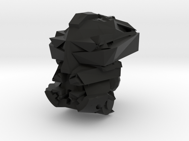 Makuta Head in Black Natural Versatile Plastic