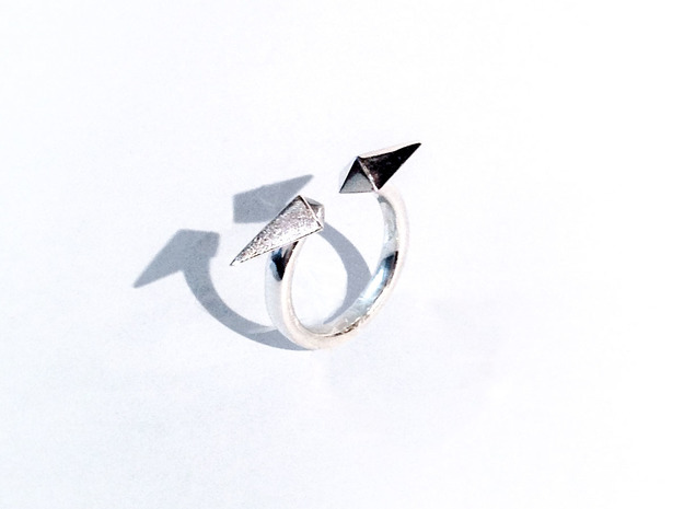 ring_toge in Polished Silver