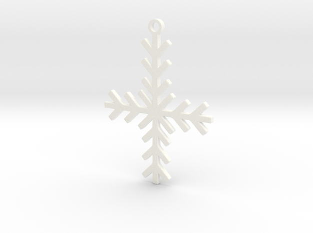 Winter Cross in White Strong & Flexible Polished