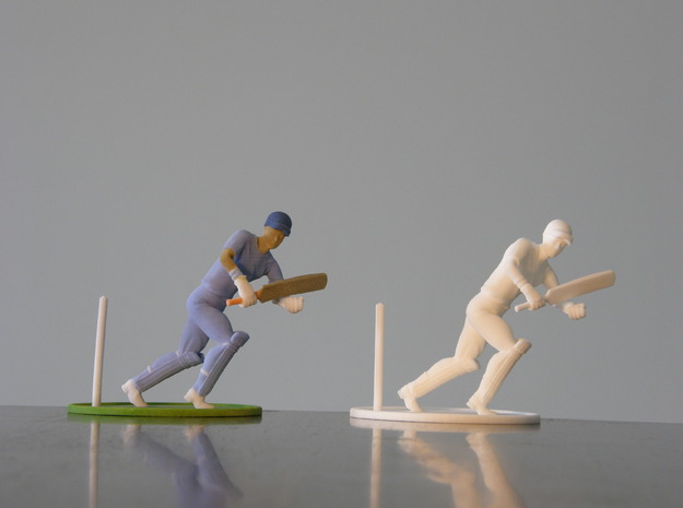 """5"""" cricket player model in White Strong & Flexible"""