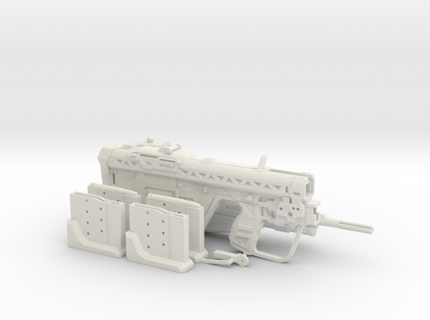 1:6 Designated Marksman Rifle Human Sized w/ extra in White Natural Versatile Plastic