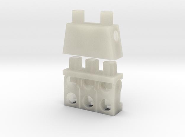 Trinifigure - Three Legged Minifigure 3d printed