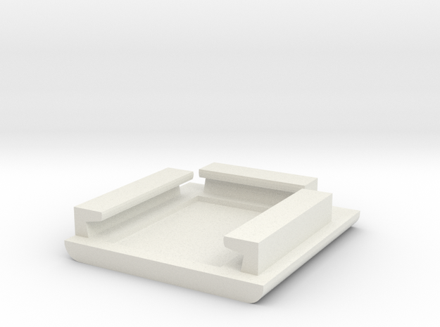 Evolv USB Charger Cradle v1 in White Natural Versatile Plastic