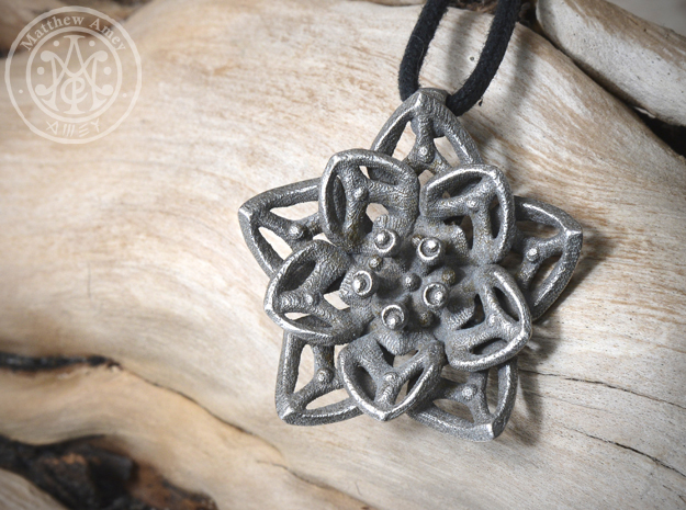 Blossom #2 in Polished Bronzed Silver Steel