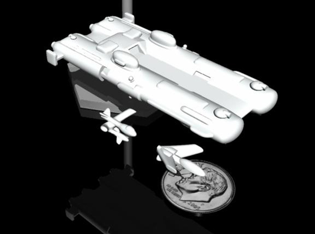 NuBlazers Ruskin Carrier & Fighters - Fleetscale 3d printed
