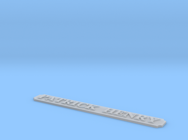 AVS Name Plate in Smooth Fine Detail Plastic