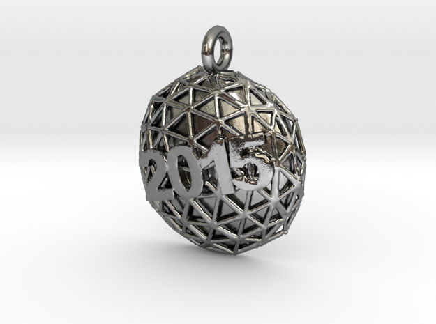 New Year Ball 2015 in Polished Silver