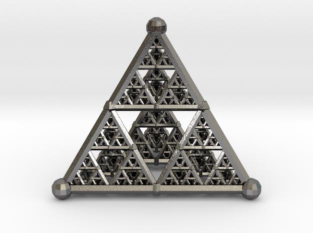 Sierpinski4 in Polished Nickel Steel