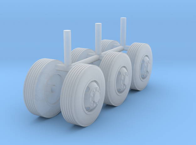 "1/87 Scale Motorhome Wheels ""4 Bud"" in Frosted Ultra Detail"