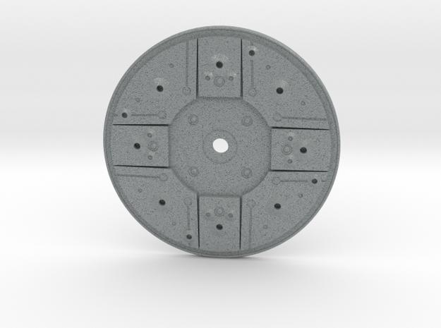 Y Wing Helmet Left Side Disk in Polished Metallic Plastic