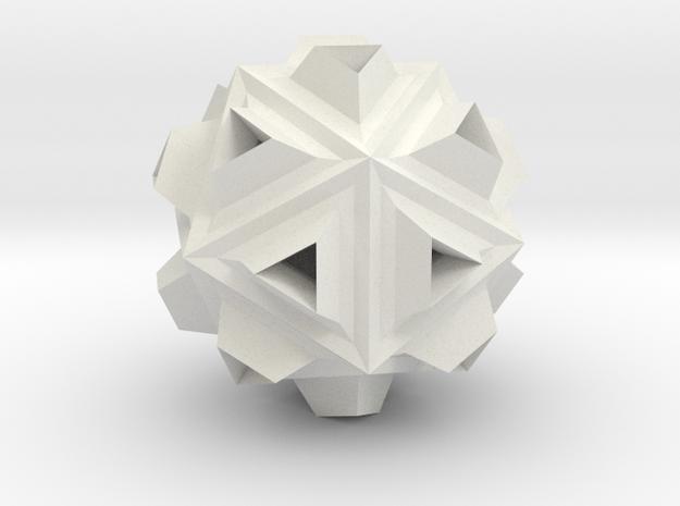 Icosa Dill - 2.4cm in White Natural Versatile Plastic