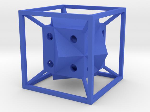 Dice51 in Blue Processed Versatile Plastic