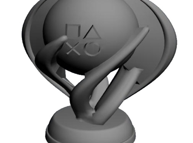 Platinum Trophy 3d printed