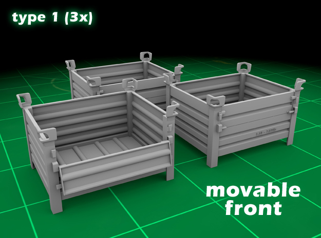 Stackable Container Type1 (3x) in Frosted Ultra Detail