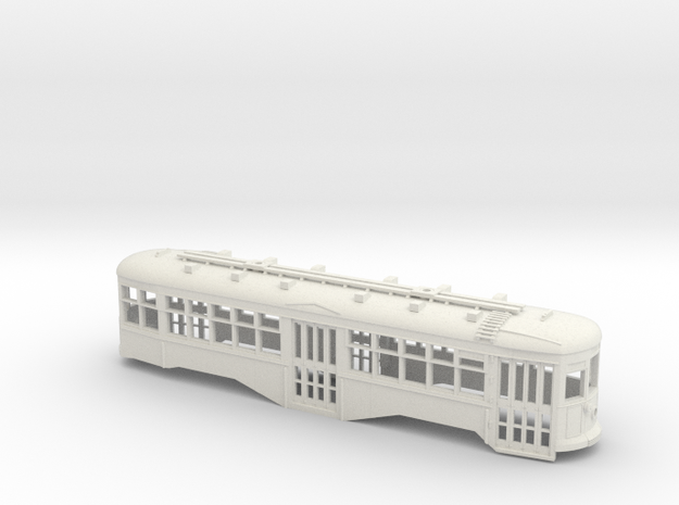 S Scale BQ&T 8000-Series Peter Witt BODY in White Natural Versatile Plastic