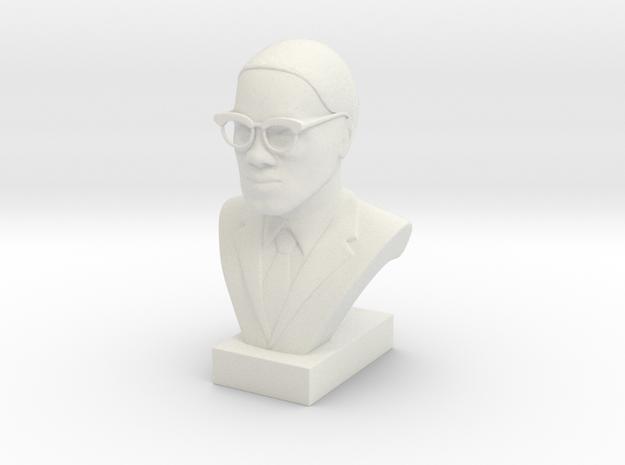 Malcolm X in White Natural Versatile Plastic