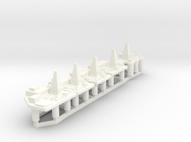 60TD02 1:6000 Oilrigsx5 in White Processed Versatile Plastic