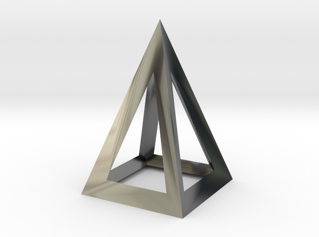 pyramidal pendant in Premium Silver