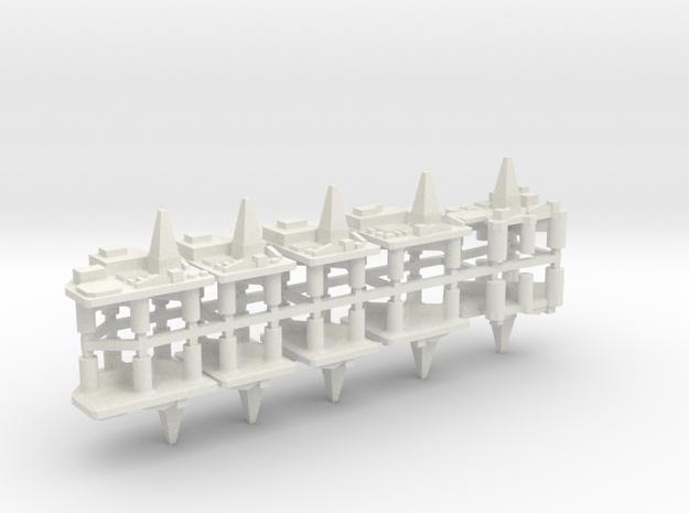 60TD03 1:6000 Oilrigs x10 in White Natural Versatile Plastic
