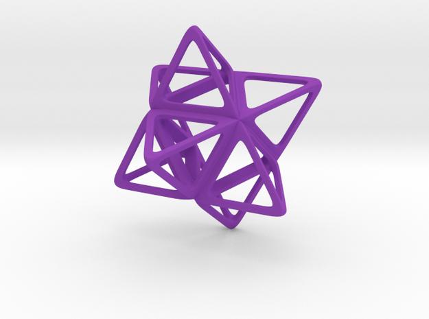 Merkaba Flatbase R1 - 4cm in Purple Processed Versatile Plastic