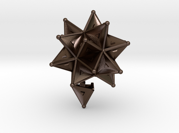 Stellated Icoso Case - 3.6cm 3d printed
