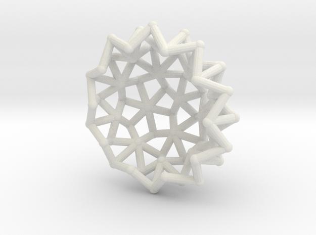 Tessa2 Half WireBalls 2cm in White Natural Versatile Plastic
