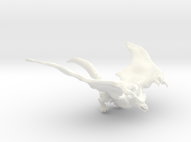 Dragon Birdy in White Processed Versatile Plastic